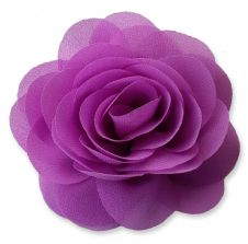 8cm Camellia ORCHID PURPLE Fabric Flower Applique